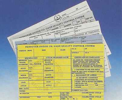 Pennoyer-Dodge Co. certification cards 1-800-736-4243